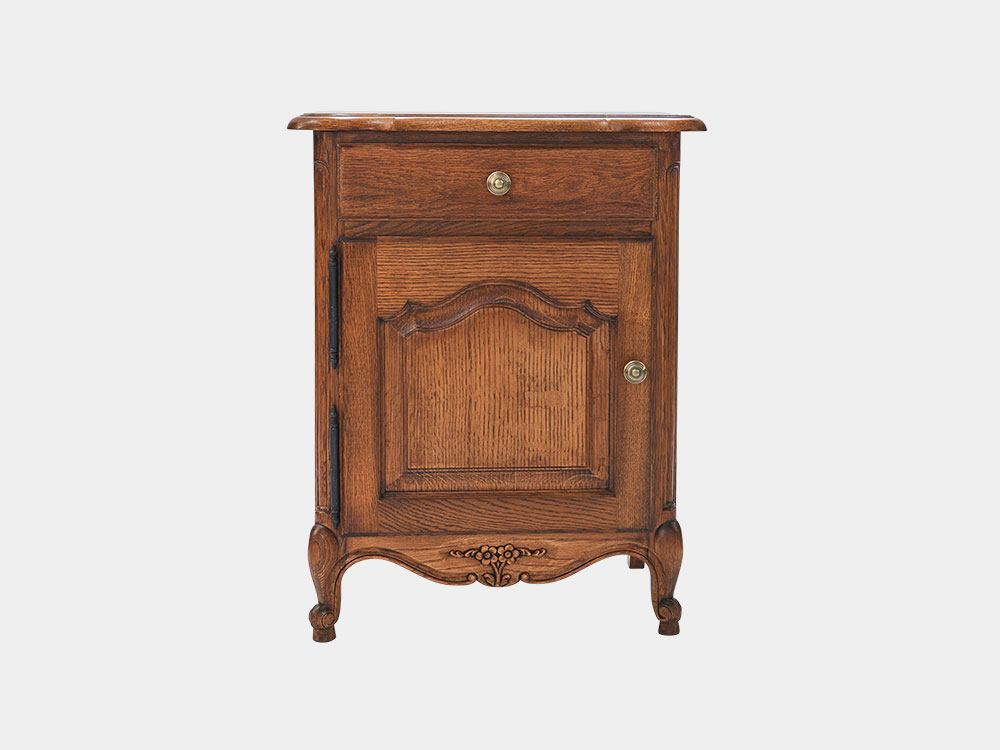 French Accent Louis Bedside Cabinet 1-Drawer-1-Door_front