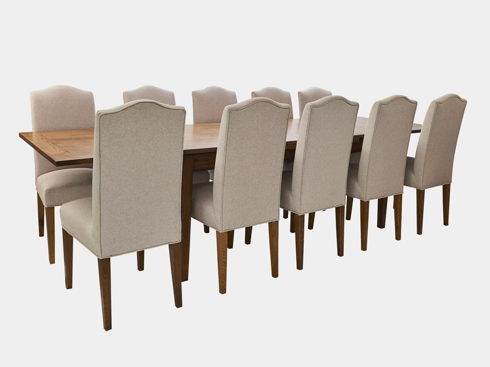 French Accent French Country Provence extendable Dining Table in oak 200cm 10 chairs