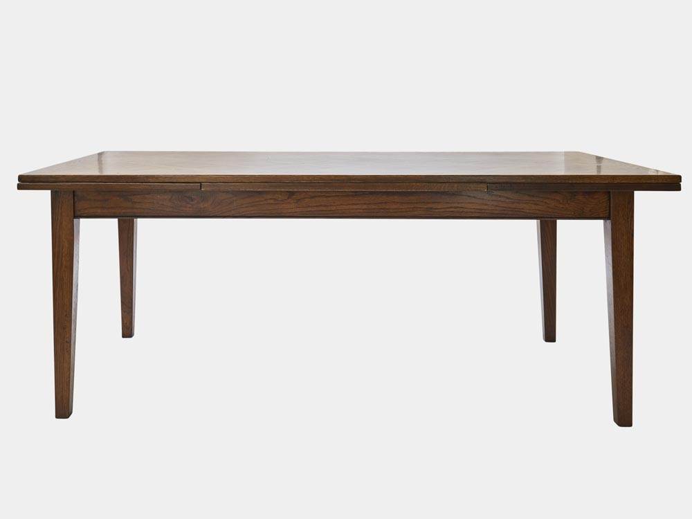 French Accent French Country Provence extendable Dining Table in oak 200cm front