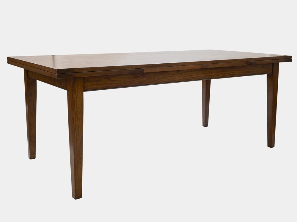 French Accent French Country Provence extendable Dining Table in oak 200cm side 45 2