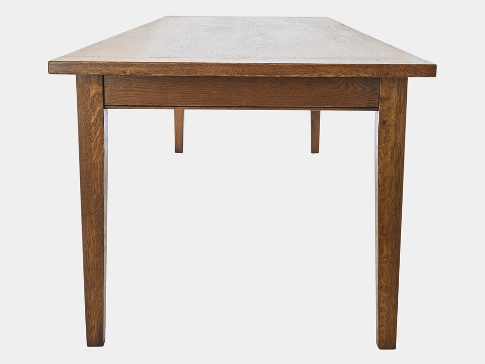 French Accent French country Provincial Dijon Dining Table in Oak 250 side