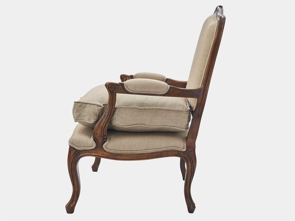 Louis Xv Style Bergere Armchair French Accent