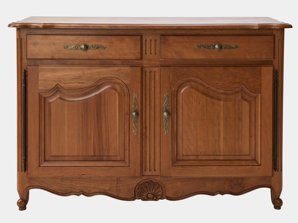 French Provincial Louis Xv Style Buffet Sideboard