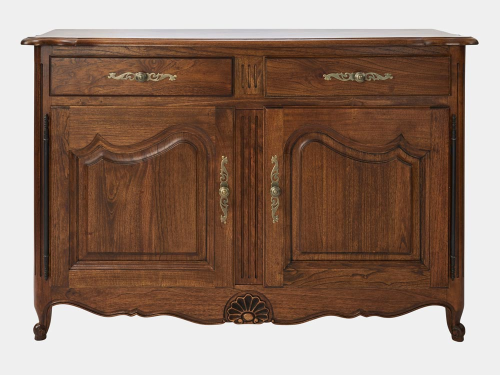 French Provincial Louis Xv Style 2 Door Buffet Or