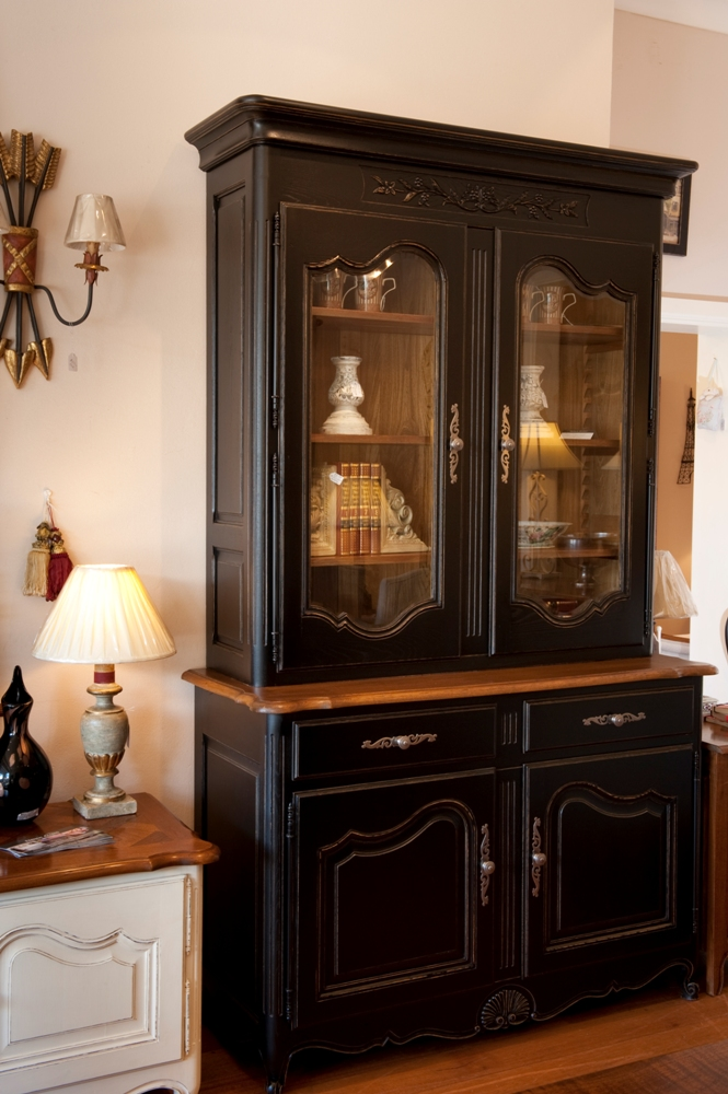 french-provincial-louis-xv-style-2door-bookcase-black