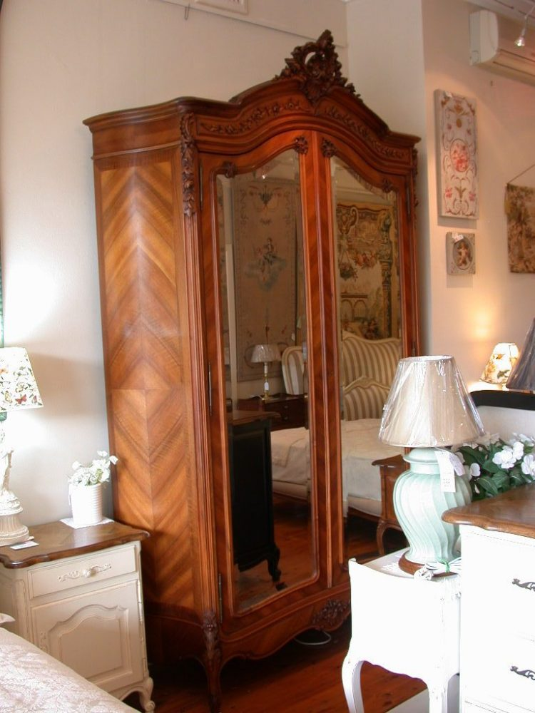 antique-french-provincial-louis-xv-style-2-mirror-door-armoire