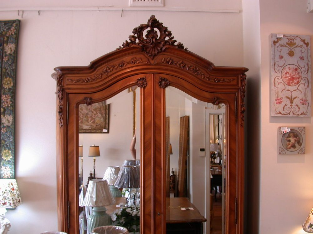 antique-french-provincial-louis-xv-style-2-mirror-door-armoire-top1