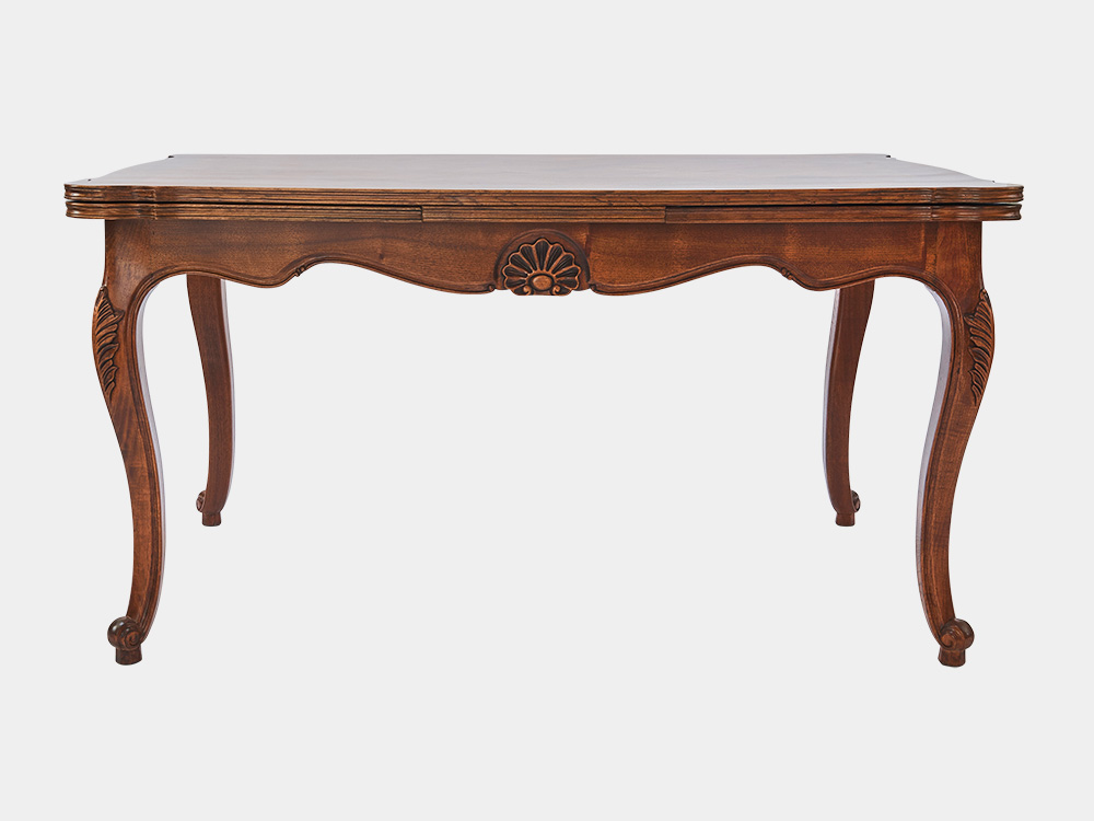 French louis xv style extension dining table french accent for Styling a dining table