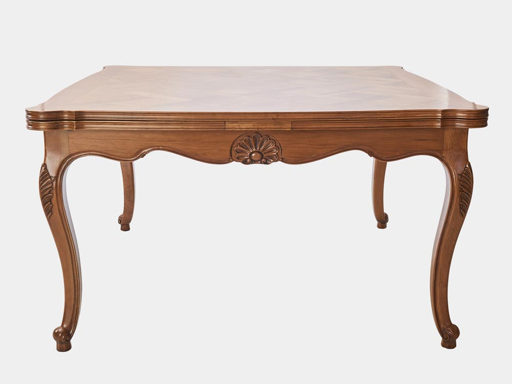 Louis xv style extension dining table french accent - Table de chevet louis xv ...