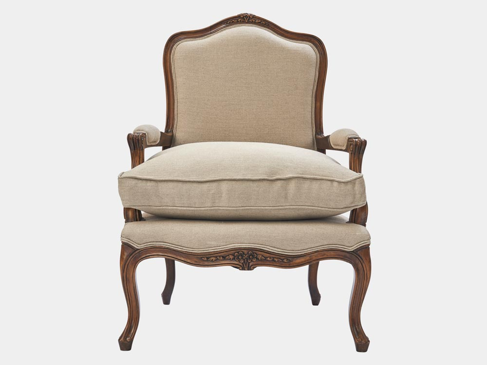 French Provincial Louis XV style Bergere armchair – French ...