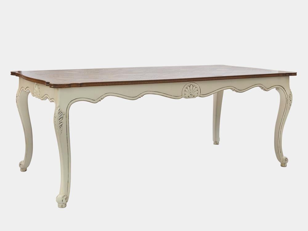 Louis xv style dining table french accent for Table in french