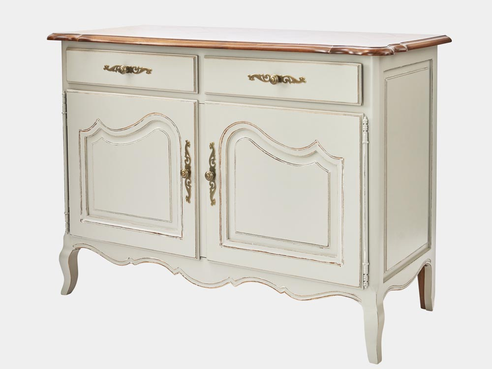 official photos 68639 c3d73 French Provincial Louis XV style 2-door sideboard, Grey