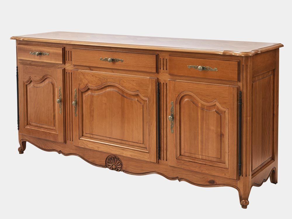Louis Xv Style Buffet Sideboard 3 Drawers French Accent