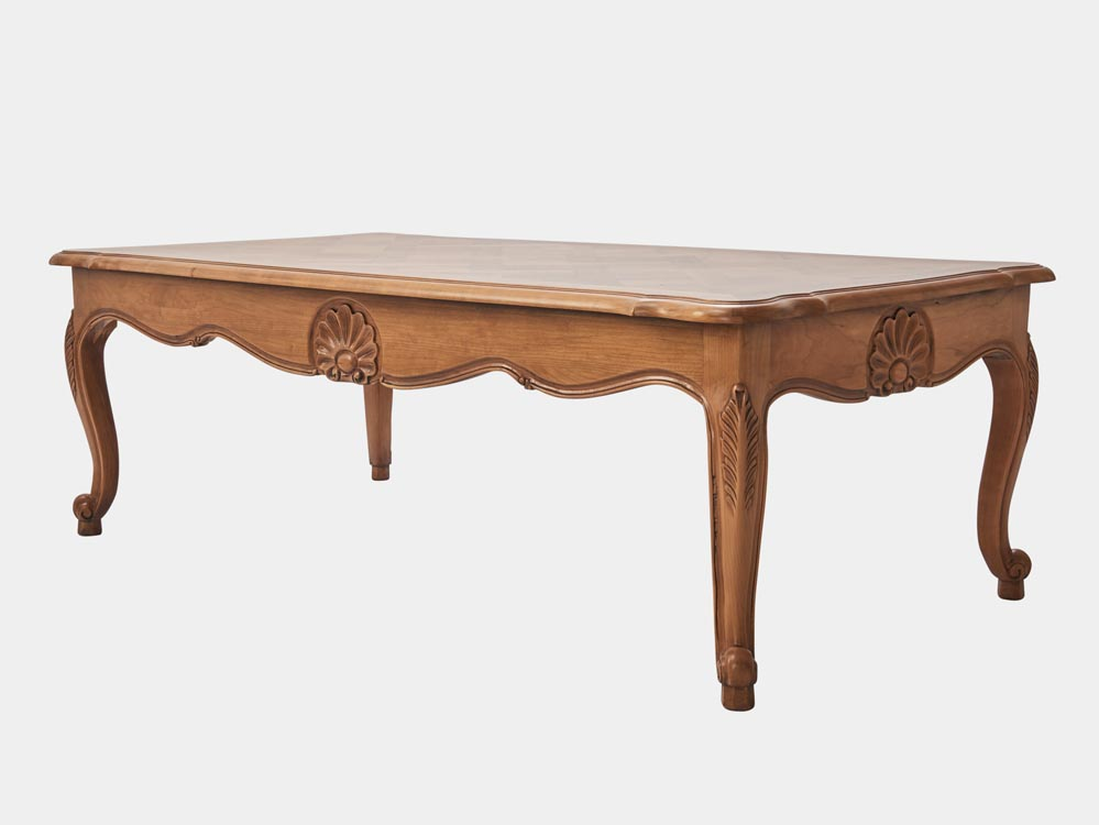 Louis xv style coffee table french accent - Table de chevet louis xv ...