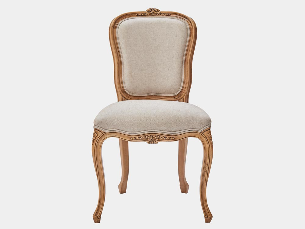 French provincial Louis XV style dining chair – cherry ...