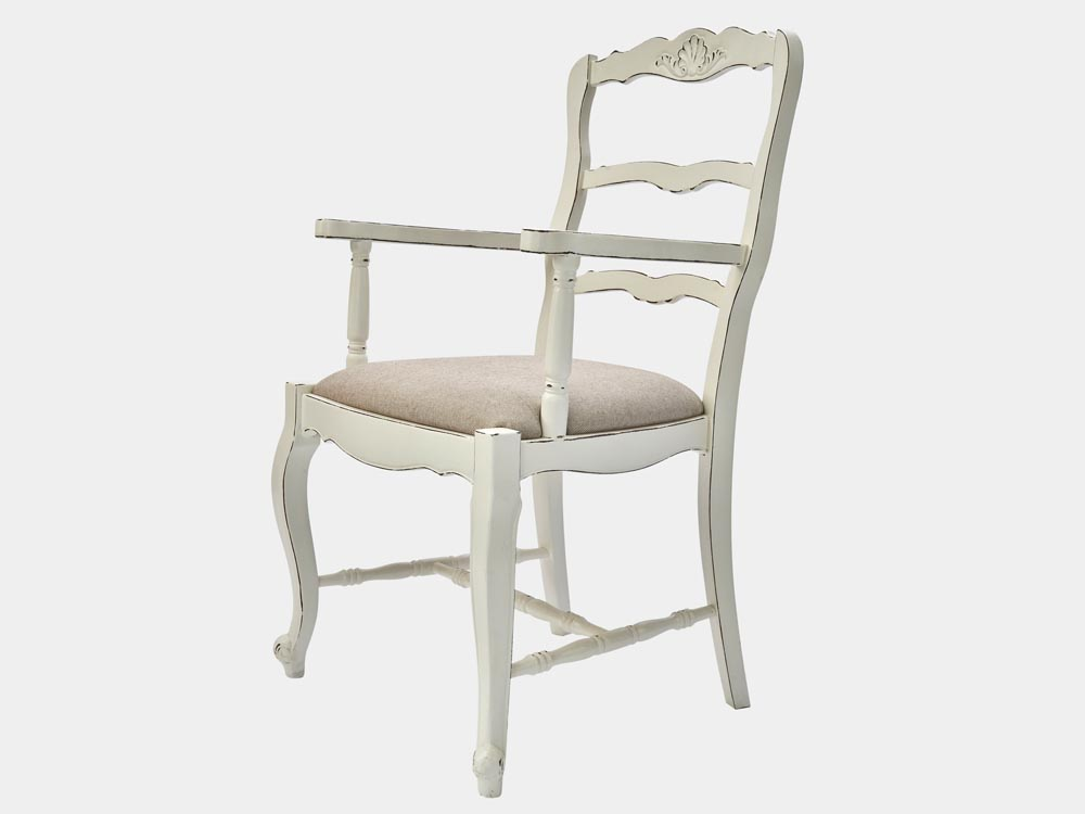 Country Provincial Style Lyon Armchair